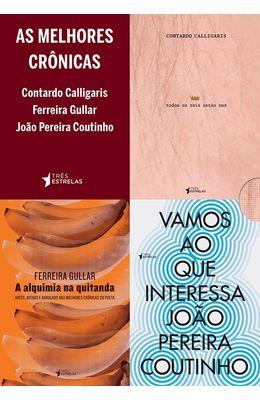Melhores-cronicas-As---Box---Contardo-Caligaris-Ferreira-Gullar-e-Joao-Pereira-Coutinho